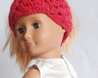 18 inch doll clothes Messy Bun Hat for Our Generation Dolls  and American Girl Dolls / 18 inch doll accessories set / gift for girls