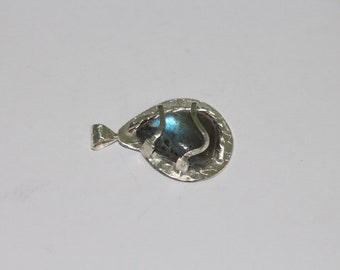 109 # charm sterling 925 sterling silver with labradorite