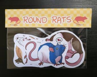 Round Rats - 4 Sticker Pack