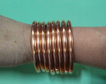 copper bracelets stacking metal bracelets simple style oval copper cuffs tribal style bangles 3518