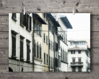Siesta Shutters / Florence, Tuscany, Italy / Urban Street Travel Photography Print / Old City Wall Art / Mediterranean Rustic Home Decor