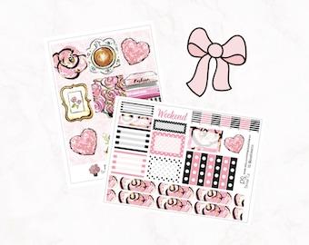 Planner Mini Kit - 9 Full Box - Pink Desktop Theme - Decorative - Functional - Add On Die Cut