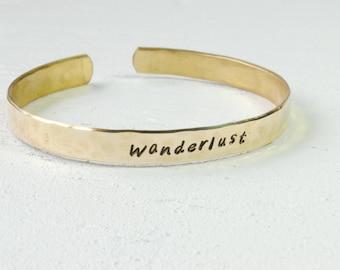 Brass Wanderlust Cuff