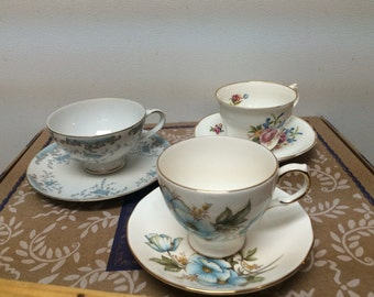 Queen Anne tea cup and others
