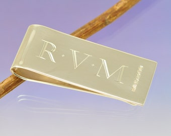 Personalised Silver Money Clip. Father's Day
