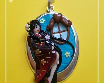 Flower Geisha made from Polymer Clay