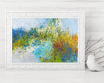 Abstract Art Printable - Digital Print - Abstract Impressionist Painting - Instant Download Reproduction - Modern Home Decor Wall Art 8x12