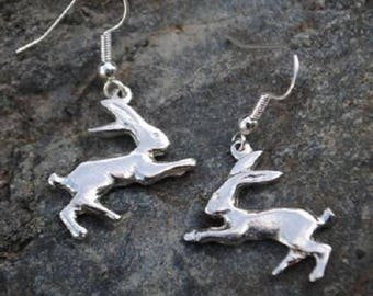Hare Pewter Earrings