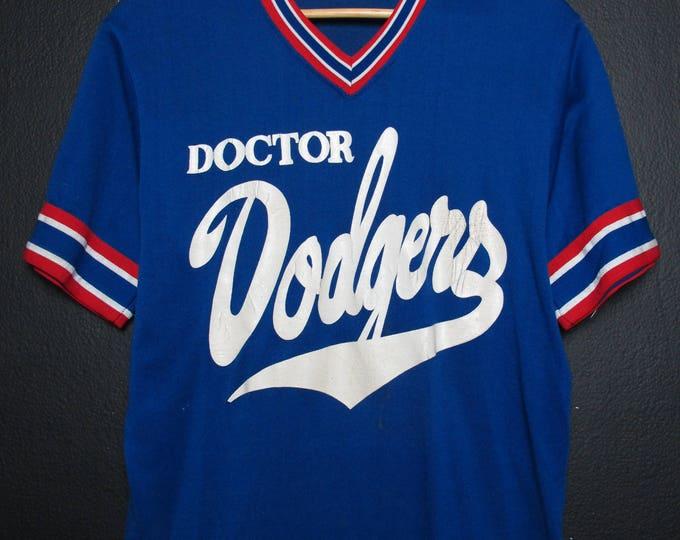 Los Angeles Dodgers MLB Vintage V neck Tshirt