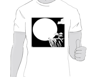 Man in moon T Shirt