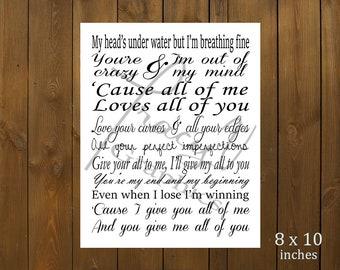 Printable Decor - All of Me