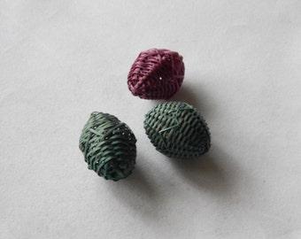 30mm Woven Wicker Beads