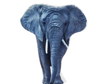 Elephant, Elephant Cushion, Elephant Pillow, Zoo Animals, Animal Gift, Elephant Gift, Elephants, Elephant lovers, Fun Gift, Nursery Animal
