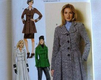Butterick 6143 Misses Lined Coat and Jacket Size  14-16-18-20-22   New Uncut