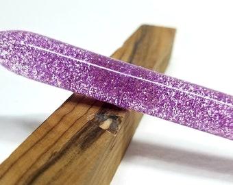 Pink Glitter One handmade acrylic hair stick