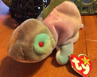 TY Beanie Baby Iggy Vintage Stuffed Plush Iguana