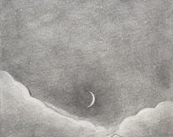 темнота | ORIGINAL art (not a print!)