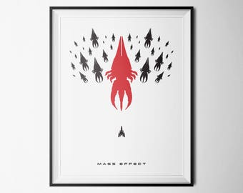 Mass Effect Poster, 5 Sizes Included, Instant Download, Digital Prints, Mass Effect Reapers, Mass Effect Poster, Mass Effect Prints