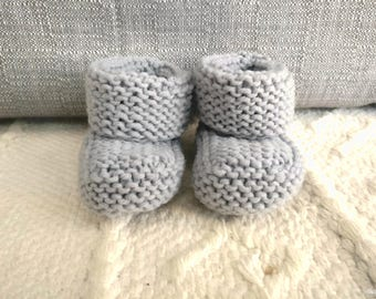 MADE TO ORDER: Hand knit baby booties