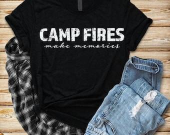 Camp Fires make memories T-shirt, Women's Graphic Tee