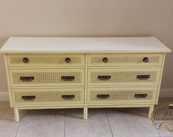 Ficks Reed Hollywood Regency Cane Front Dresser (rare) shipping not included