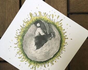 Sleep tight - Badger - post card 14, 8 x 14, 8 cm, 300 g