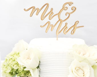 Lasercut Calligraphy Caketopper - Weddings & Custom