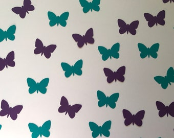 Purple and Teal Butterfly Confetti - Purple and Teal Decorations - Butterfly Decorations - Butterfly Birthday Decorations - Butterfly Party