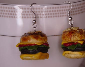 Delicious Hamburger Earrings!