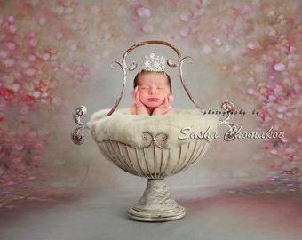 digital backdrop newborn girl