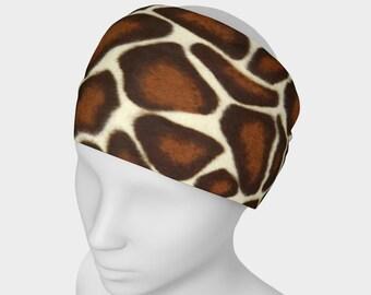 Giraffe Spots, Headband, neck scarf, scarf, giraffe, animal print, giraffe headband, animal print headband, hair fashion, hair wear, spandex