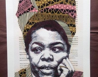 Maya Angelou giclee print