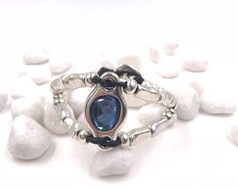 Beaded Bracelet, Swarovski Crystal, Swarovski, Gift for Mom, Leather Bracelet, Boho Bracelet, Girlfriend Gift, Cuff Bracelet, Boho, Bracelet