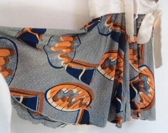 full circle skirt, vintage 50s dress, BIG RETRO pattern, small size dress, vintage dresses, 50s costume, 50s pinup dress, XS