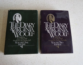 The Diary of Virginia Wolf Volume One and Two, Vintage Hardcover Set