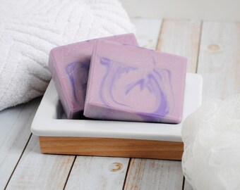 Lavender Homemade Soap - Homemade Goat Milk Soap - Homemade Lavender Scented Soap - Lavender Scented Goat Milk Soap - Lavender Artisan Soap