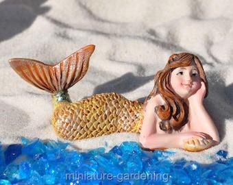 Day Dreaming Mermaid for Miniature Garden, Fairy Garden