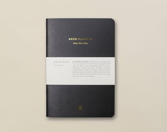 The Grow Planner: A Cannabis Grower's Weekly Planner, Guided Pages, Cultivation References, Marijuana / Weed Notebook by Goldleaf