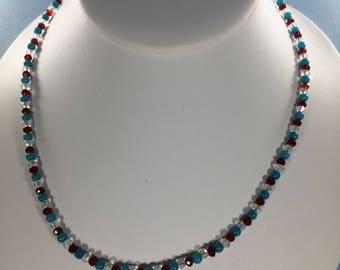 Mothers Day SALE 30% , Turquoise  Necklace, Quartz Necklace, Ruby Necklace, Gemstone Necklace gemstone Necklace, Birthstone Necklace