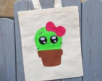 Tote Bag Kawaii Cactus
