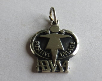 ABWA Positive Image Sterling Silver Charm or Pendant 79 #14