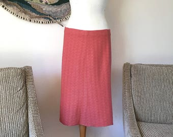 Vintage St. John Knit Skirt in Coral