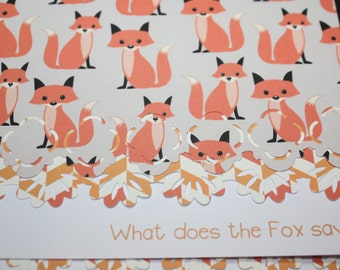 What does the fox say? Note Cards - can be personalized