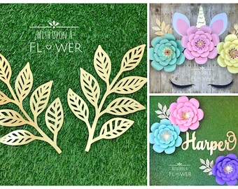 Paper flower wall etsy paper leaves large paper leaves nursery decor paper vines paper flower leaves paper flowers paper leaf diy paper flower wall decor mightylinksfo