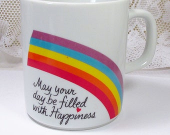 Vintage 1984 Avon Happiness Easter collectible coffee cup mug