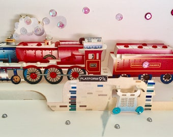 Harry Potter Hogwarts Express Train Exclusive Happy Birthday/Valentines/Merry Christmas/For Him/Her /Get Well Soon/ 3D Handmade Pop Up Card