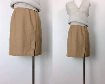 vintage wool skirt/skirt/knee high skirt size S/M