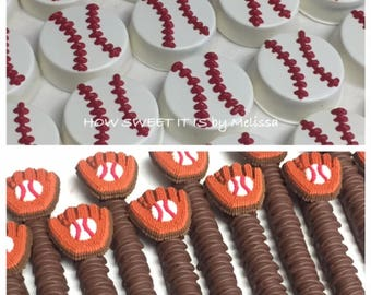 Baseball Package - Chocolate Covered Oreos and Pretzels
