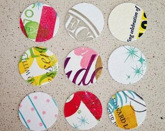 200 letterpress paper circles