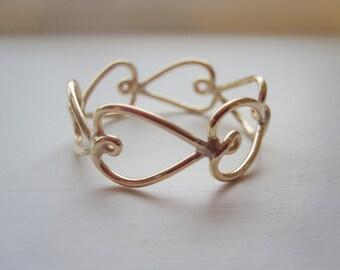 Heka Heart Ring 14k Gold Filled